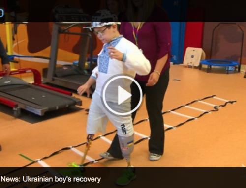 CTV National News: Ukrainian boy who lost legs in grenade blast walking again in Montreal